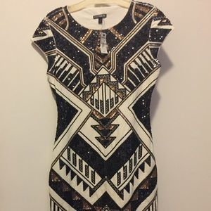Express sequence dress new with tags!